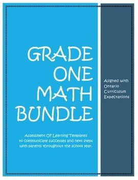 The whole year done! Communicating math progress with parents made easy and it's ONTARIO CURRICULUM!