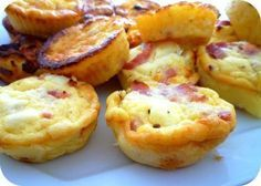Mini clafoutis kiri et lardons (vegetariens pour moi)