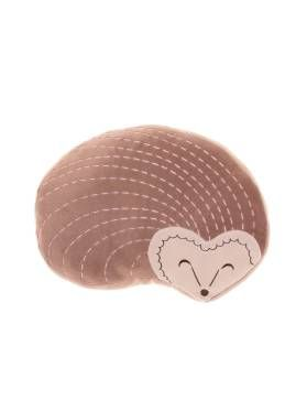 Kids Harriet Hedgehog Novelty Cushion from Linen House's Hiccups range, available at Forty Winks.