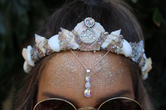 Swarovski pendant crown by chelseasflowercrowns on Etsy