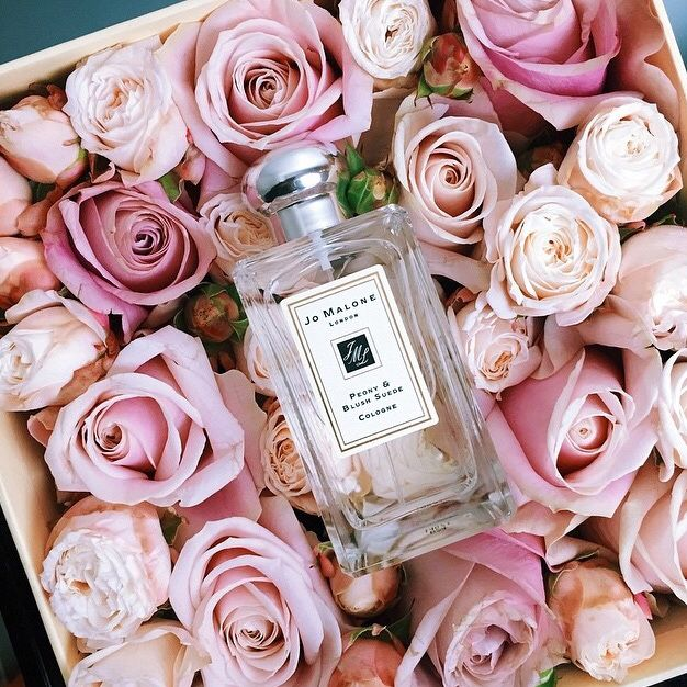 Jo Malone perfume and roses