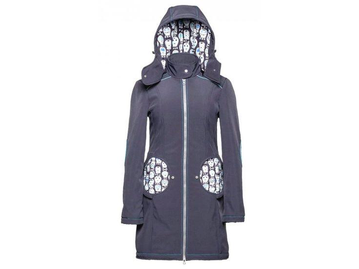 Liliputi kabát na nošení dětí Lebky šedý . 3v1 kabát pro těhoteství a na nošení dětí.