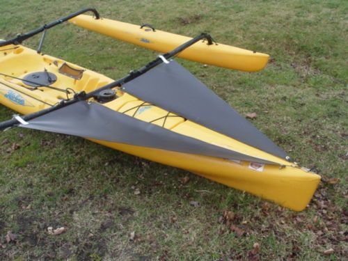 Black-Spray-Shield-Set-for-TANDEM-Hobie-Mirage-Adventure-Island-kayak
