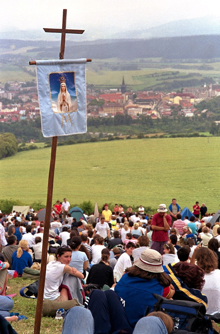 Traditional St. Mary pilgrimage of Slovak believers near the town of Levoca, east Slovakia.