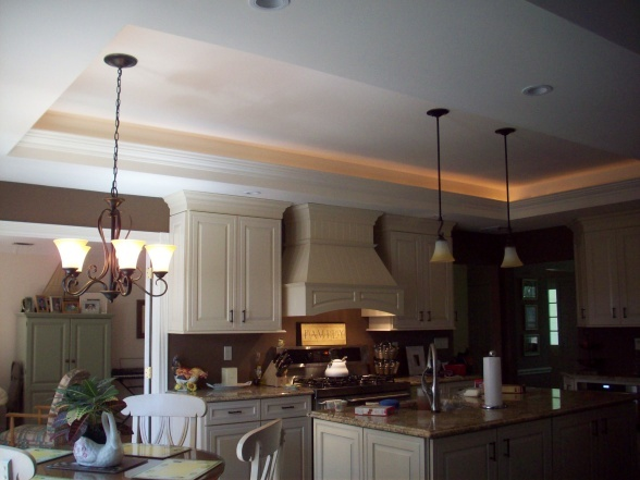 Tray Ceiling Kitchen with lights Home Ideas Kitchen