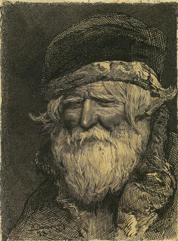 Виктор Михайлович Васнецов. Голова крестьянина 1878