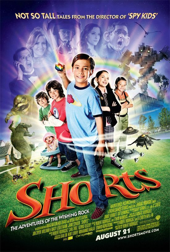 Shorts Movie Poster 27x40 Double Sided Used Jaime De La Rosa, Kat Dennings, Devon Gearhart, Isaac Rodriguez, Jonathan Breck, Michelle Brew, Tina Rodriguez, Jimmy Bennett, Ryan Lee, Leslie Mann, Jackson Hurst