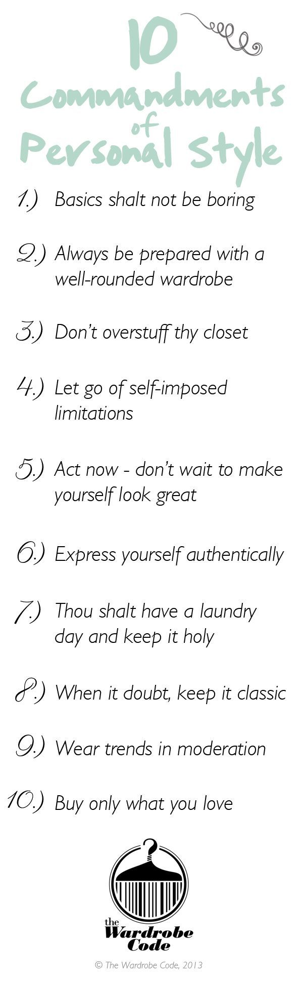 10 commandments of personal style