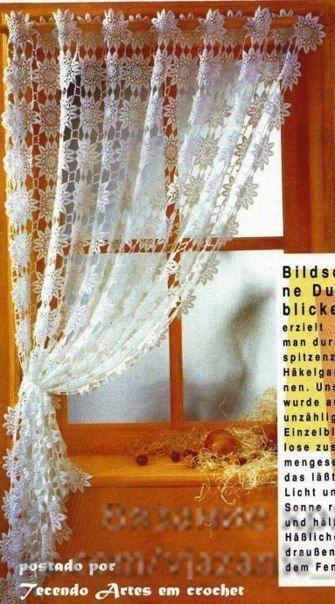 Las 25 mejores ideas sobre cortinas crochet en pinterest y - Tejidos de cortinas ...