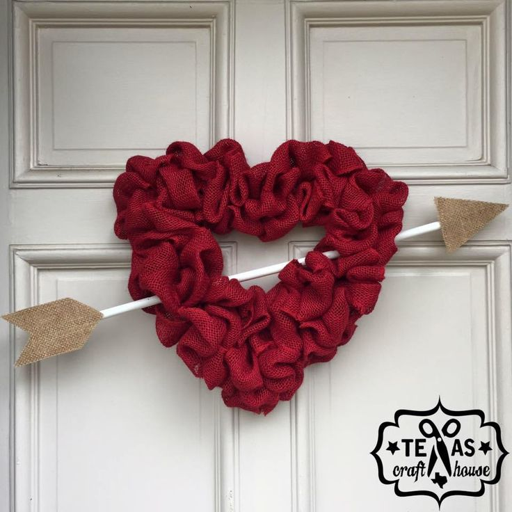 Heart Burlap Wreath DIY