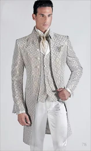 ONGala 716 - Ivory Brocade groom suits
