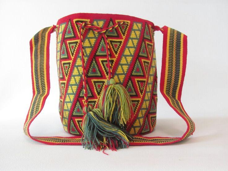 Mochila wayuu 100% artesania colombiana