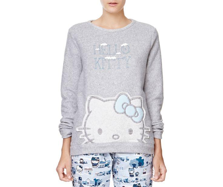 Hello Kitty top with pompom detail - OYSHO