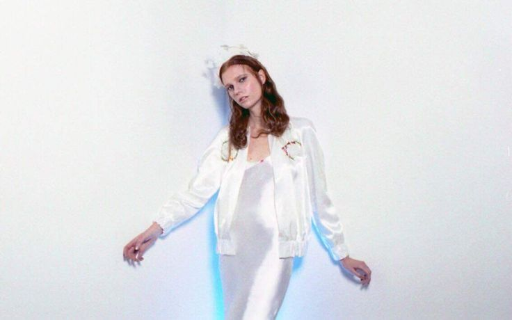 The Candie silk slipdress and the Candie jacket with hand beading / Nora Sarman / photo Eva Szombat / concept and hair Judit Iglody / make up Barbara Keseru / model Viktoria Icon