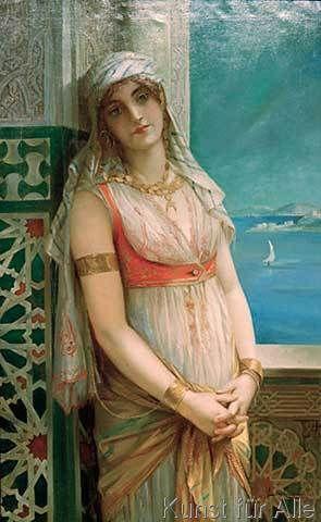 Leon Francois Comerre - Lady of the harem