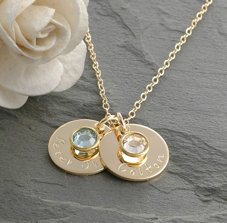 Hand+Stamped+Goldfilled+Mommy+Necklace++Two+5/8+by+divinestampings,+$51.00