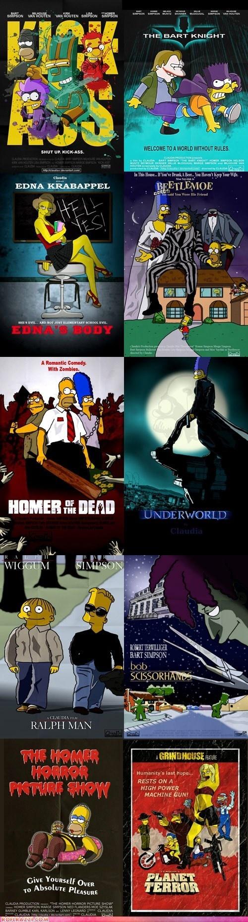 Claudia R.'s Simpsons Movie Poster Parodies. Bonus points for Bartman!