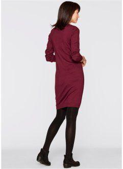 Stickad klänning, bpc bonprix collection, lönnröd
