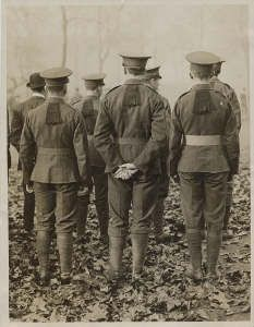 Soldiers of the RWF seen wearing the Flash on the back of the tunic collars.