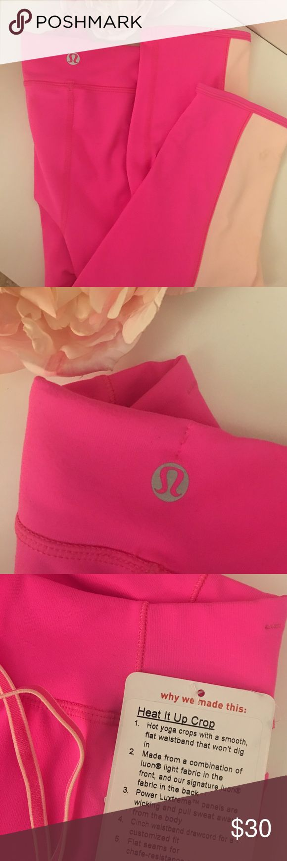 Lululemon pink yoga pants Brand new with tag Lululemon pink knee length yoga pants lululemon athletica Pants Leggings