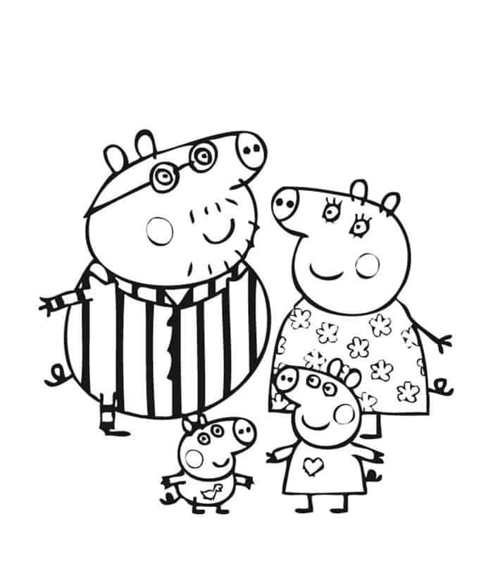 Kids Coloring Pages Peppa Pig Peppa Pig Coloring Pages Happy Birthday Coloring Pages Peppa Pig Colouring