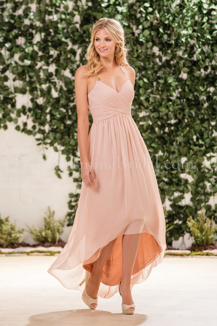 Jasmine Bridal Bridesmaid Dress B2 Style B183057 in Peach. Available at Debra's Bridal Shop, 9365 Philips Hwy., Jacksonville, FL 32256. Call us for your consultant appointment at 904-519-9900. Dress can be ordered in various colors.