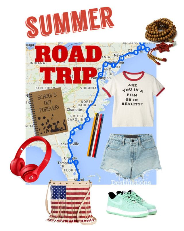 Road trip by sarks on Polyvore featuring polyvore, fashion, style, T By Alexander Wang, Beats by Dr. Dre, NIKE, TWIG & ARROW, clothing and roadtrip