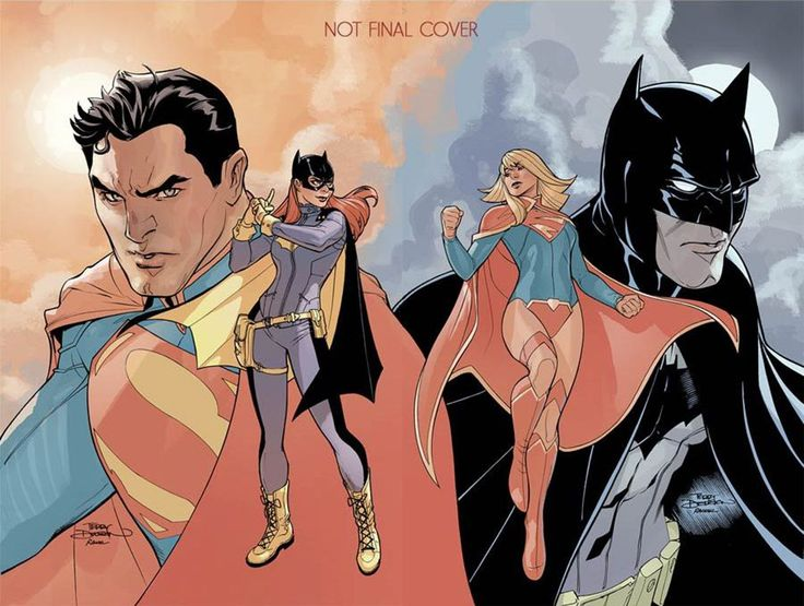 """""""Superman 50"""" and """"Batman #50"""" connecting variant covers by Terry & Rachel Dodson"""