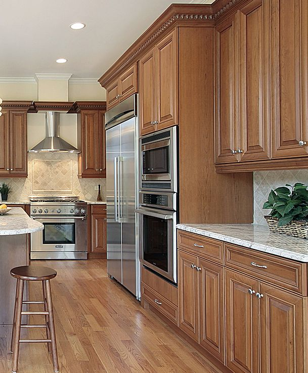 14 Best Images About Stained Wood Kitchen Cabinetry On Pinterest Cherry Kitchen Traditional
