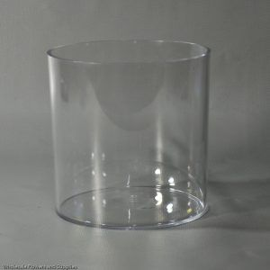 Tall Cylinder Vase Clear Plastic