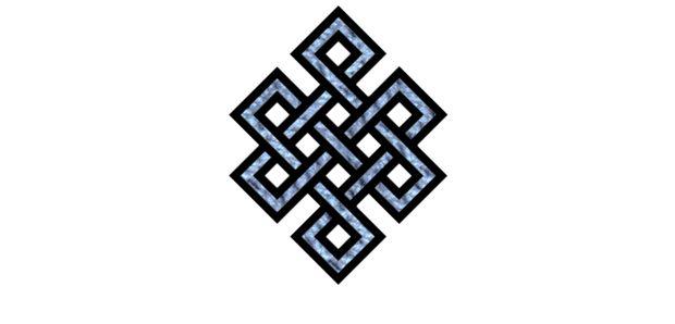 O nó infinito    Lembra que todos os eventos e seres no universo estão inter relacionados.