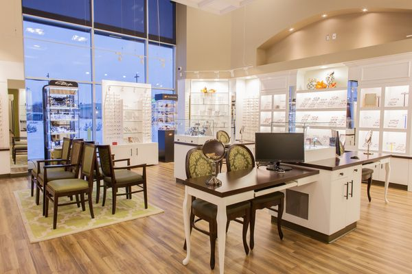 The finish product of Aurora Optometry done by Barbara Wright Design