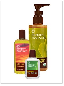 "Win a YEAR'S SUPPLY of your favorite Desert Essence product! 1. Follow us & create a board inspired by your favorite product titled ""Inspired by [Product Name]""    2. Include anything--photos of ingredients, quotes, happy hands & feet--as long as one image is of the product! Tag us so we see your entry! 3. You have till 7/20! Winner will receive a year's supply of their product & be featured on our blog! (U.S. residents only. All federal, state, and local laws apply. No purchase necessary.)"