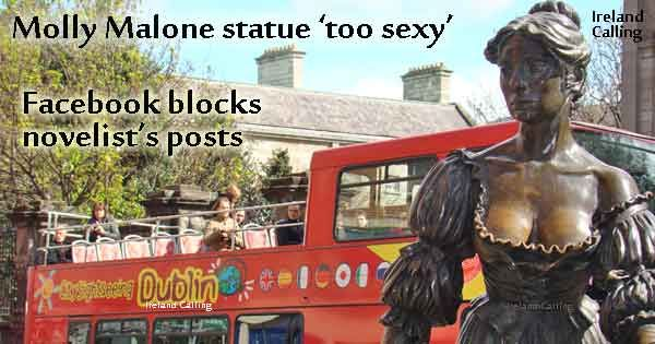 Molly Malone statue too sexy for Facebook - she's lovely