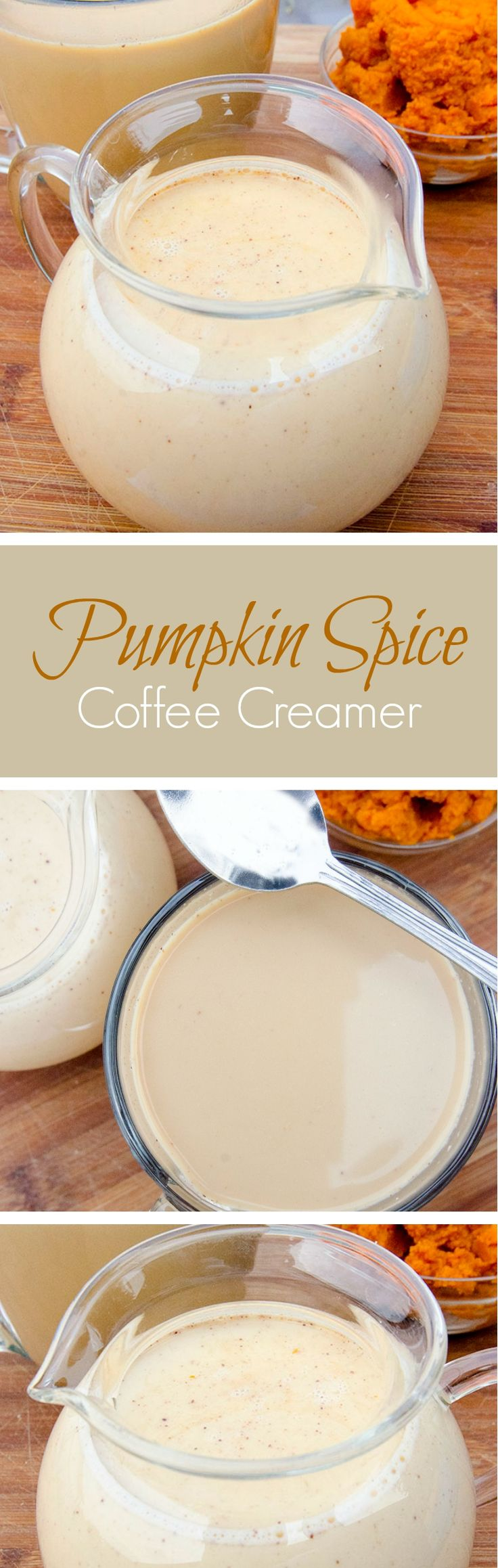 Easy recipe for the lust-worthy Pumpkin Spice Coffee Creamer, using just 6 yummy ingredients. Pumpkin Spice all the things!!! You're welcome.