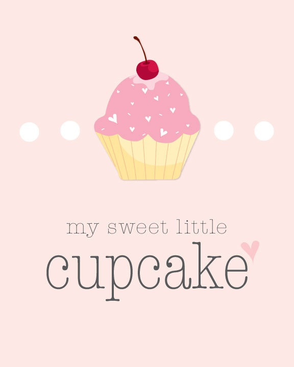 My Sweet Little Cupcake Nursery Printable