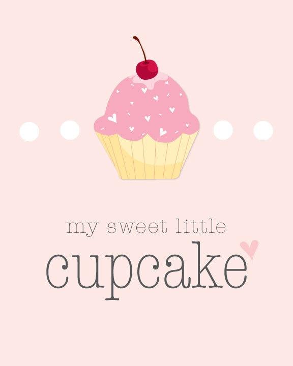 My Sweet Little Cupcake Nursery Printable
