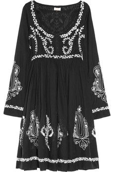 Collette by Collette Dinnigan Embroidered Cotton-blend Voile Dress