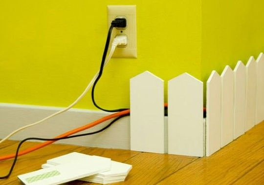 DIY: Great way to hide those unsightly wires!