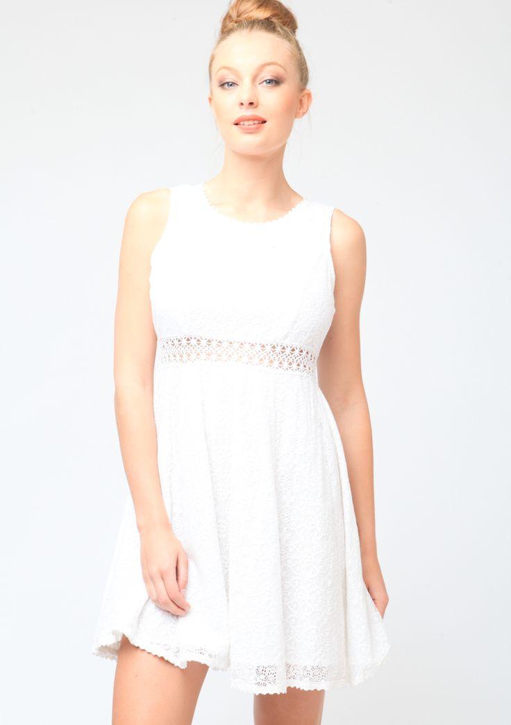so pretty #fashion #white dress #white lace