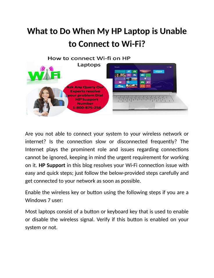 What to Do When My HP Laptop is Unable to Connect to Wi-Fi?