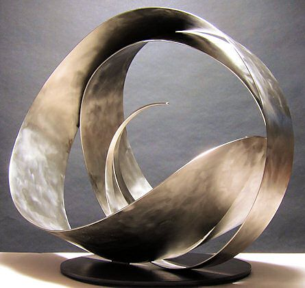 This metal sculpture is awesome.  Baskets are sculpture too, kind of.   I am inspired by these shapes. SELKIE #16