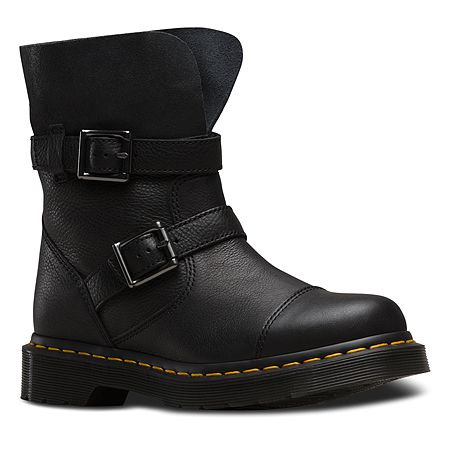 Dr. Martens Kristy Slouch Rigger Boot | Women's - Black Virginia/Darkened Suede