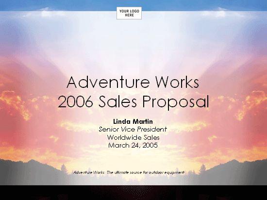 Sales strategy  proposal presentation