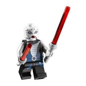 Asajj Ventress with 2 Red Lightsabers with Special Handle Included~ Lego Star War's Minifigure New 2011 by LEGO. $9.94. Choking Hazard for children 3 and under. Minifigure is approx. 2 inches tall. Lego Asajj Ventress Minifigure with 2 Red Lightsabers included~ New 2011 Release. Lego Asajj Ventress Minifigure with dual Red Lightsaber included~ New 2011 Release. .Minifigure is approx. 2 inches tall. Choking Hazard for children 3 and under