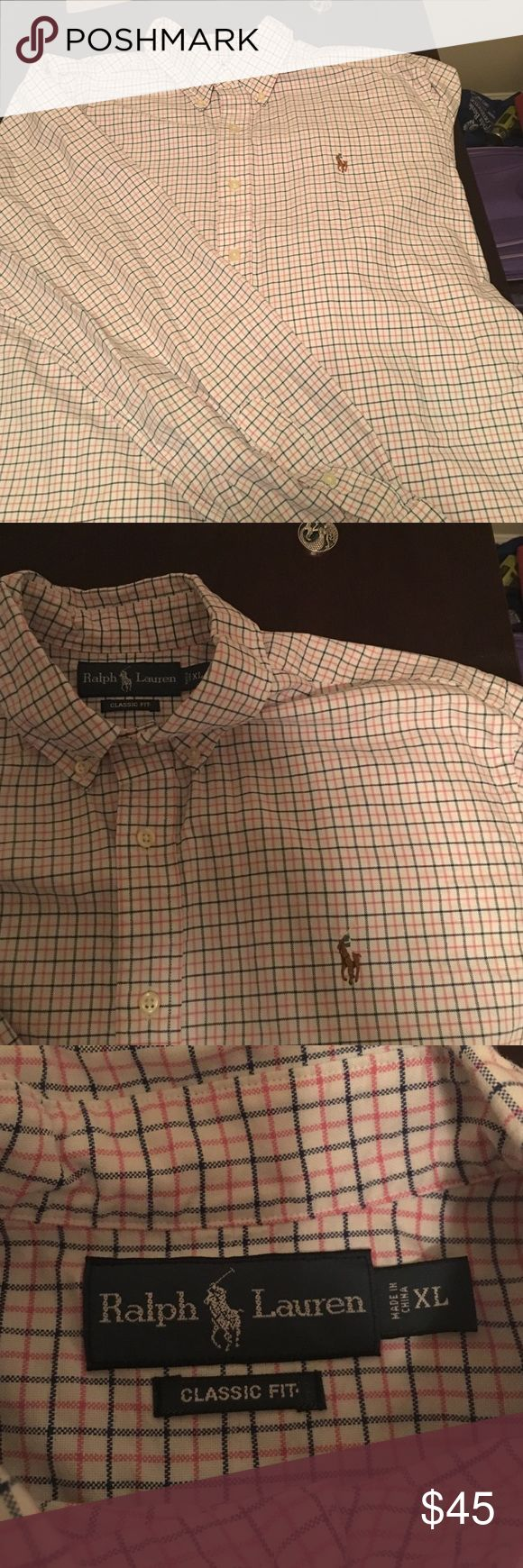 Like new long sleeve polo casual XL dress shirt Like new polo long sleeve casual dress shirt. Only worn twice. Just doesn't fit me anymore. Great for casual or more dressy occasions. Polo by Ralph Lauren Shirts Casual Button Down Shirts
