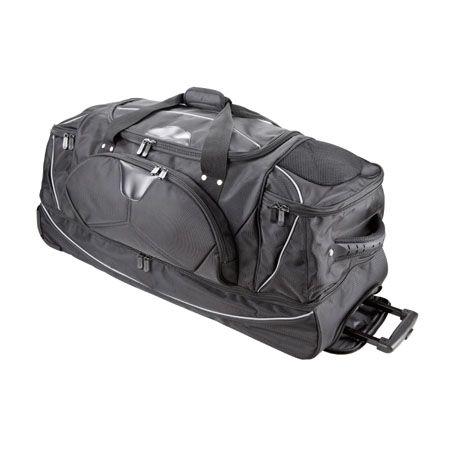 Dermata Rollenreisetasche mit Rucksackfunktion 3462NY schwarz