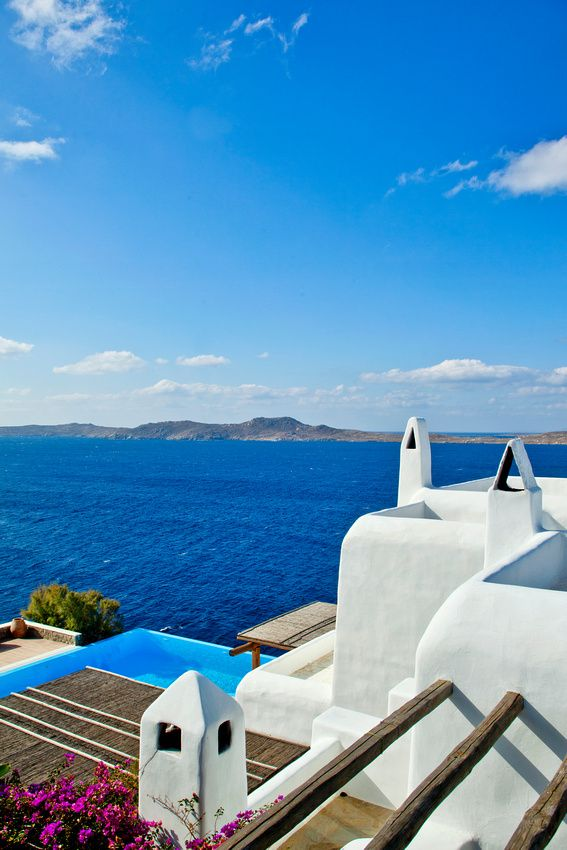 Pantone's color pick for Fall 2013's Mykonos Blue is inspired by Mykonos Blue, Cyclades, Greece