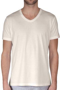Chakra Bruno Erkek V Yaka T-Shirt Kum https://modasto.com/chakra/erkek-ust-giyim-t-shirt/br15178ct88