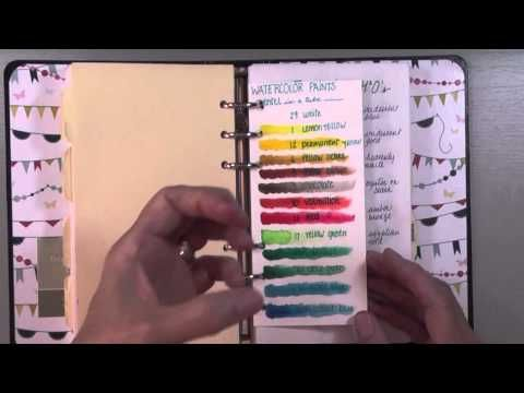 """arts and crafts supplies inventory binder - YouTube-Great idea for those of us that hoard supplies aka """"collect"""" supplies and forget about them"""